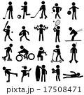 sport silhouettes black simple icons set eps10 17508471