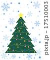 クリスマスツリー オーナメント 雪の結晶のイラスト 17510003