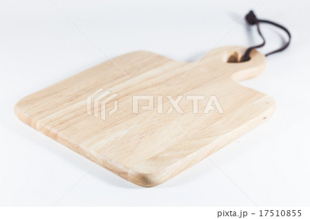Wooden plate isolated on white backgroundの写真素材 [17510855] - PIXTA