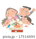 鍋を囲む家族 17514093