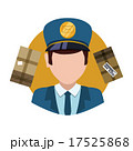 Delivery postman design. 17525868