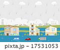 増水 洪水 水害のイラスト 17531053