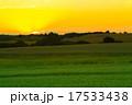 牧草地 夕闇 夕暮の写真 17533438