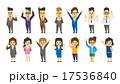 働く人々のセット【フラット人間・シリーズ】 17536840