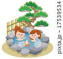 ベクター 露天風呂 旅行のイラスト 17539534