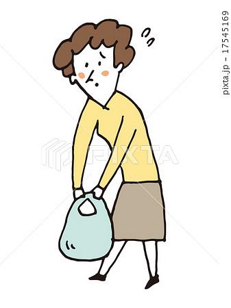 買い物袋が重い 17545169