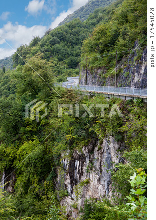 Italian road in mountains 17546028