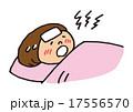 高熱 風邪 インフルエンザのイラスト 17556570