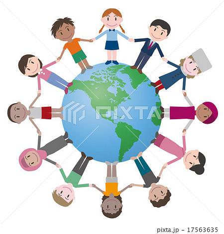 地球と世界の人々のイラスト素材 17563635 Pixta