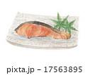 焼き魚 焼き鮭 切身のイラスト 17563895