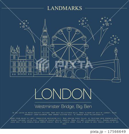 World landmarks. London. United Kingdomのイラスト素材 [17566649] - PIXTA
