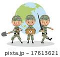 世界で活躍する自衛官のイメージ(複数人) 17613621