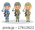 多国籍な軍人のイメージ(東アジア・日本・アメリカ) 17613622