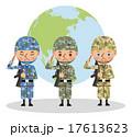 多国籍な軍人のイメージ(東アジア・日本・アメリカ) 17613623