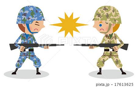 敵対戦闘する兵士のイメージアジア米軍のイラスト素材 17613625