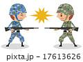 敵対・戦闘する兵士のイメージ(アジア・日本) 17613626
