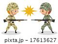 敵対・戦闘する兵士のイメージ(アメリカ・日本) 17613627