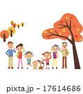 三世代 家族 紅葉のイラスト 17614686
