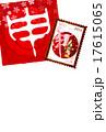 申 年賀状 背景  17615065