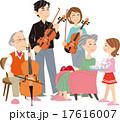 三世代家族 趣味 楽器 演奏 団らん 17616007