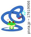 ヘビを睨み返すカエル 17619066
