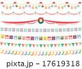 素材-かわいいクリスマスフラッグ 17619318