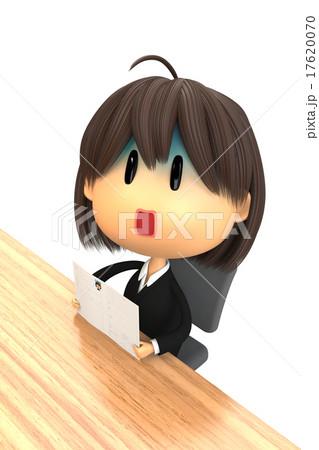 履歴書と就職活動中の女子 17620070