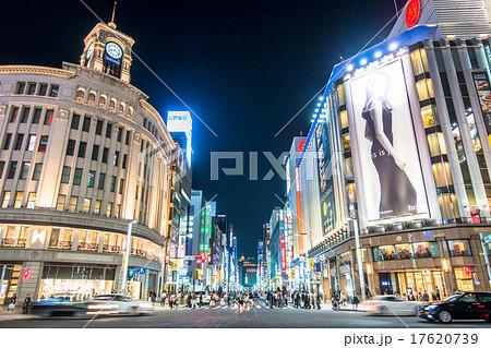 東京・銀座の夜景 17620739