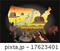 地図のアメリカ 洞窟の人々 17623401