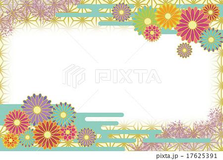 菊はがきグリーン 17625391