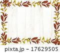 フレーム 白壁 落ち葉のイラスト 17629505
