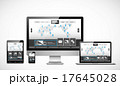 ホームページ テンプレート パソコンのイラスト 17645028