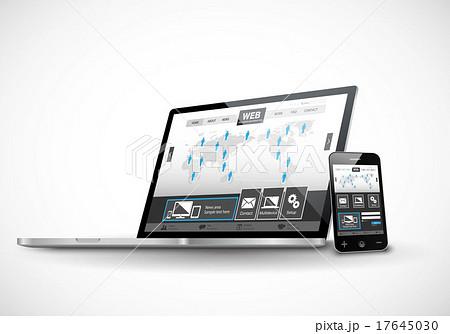 スマートフォンとラップトップのウェブサイト 17645030
