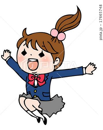 ジャンプする女の子 17665748