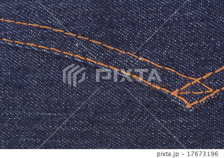 fabric blue jean texture backgroundの写真素材 [17673196] - PIXTA