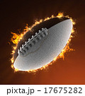 football ball in fire 17675282