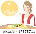ランチタイム 食事 女性のイラスト 17675711