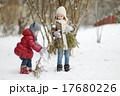 娘 姉妹 雪の写真 17680226