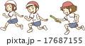 リレーする子供 17687155