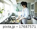 家事 アジア人 お弁当の写真 17687571