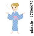 浴衣 浴衣姿 女性のイラスト 17690079