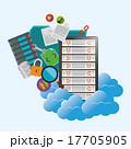 ホスティング クラウド クラウドコンピューティングのイラスト 17705905