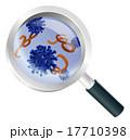 虫眼鏡 バイキン バイ菌のイラスト 17710398