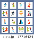 Various Dance Styles Flat Icons 17716424