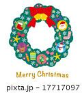 リース クリスマスリース クリスマスのイラスト 17717097