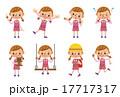 女の子のポーズセット(8種) 17717317