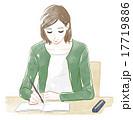 書く 書き物 女性のイラスト 17719886