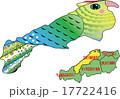 地図の動物 島根 インコ 17722416