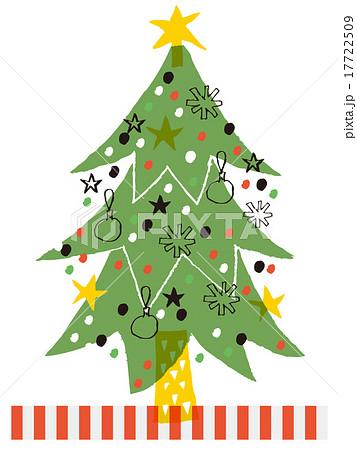 クリスマスツリー_手書き風