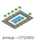 リゾートプール ベクター プールのイラスト 17723852